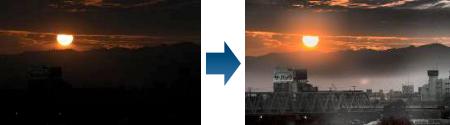 明暗を含む画像の同時改善