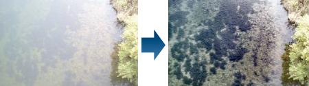 水面乱反射画像の改善